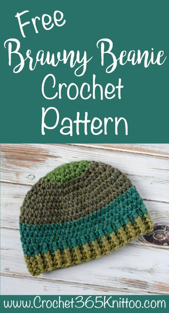 Brawny Beanie Men\'s Crochet Hat | Häkeln