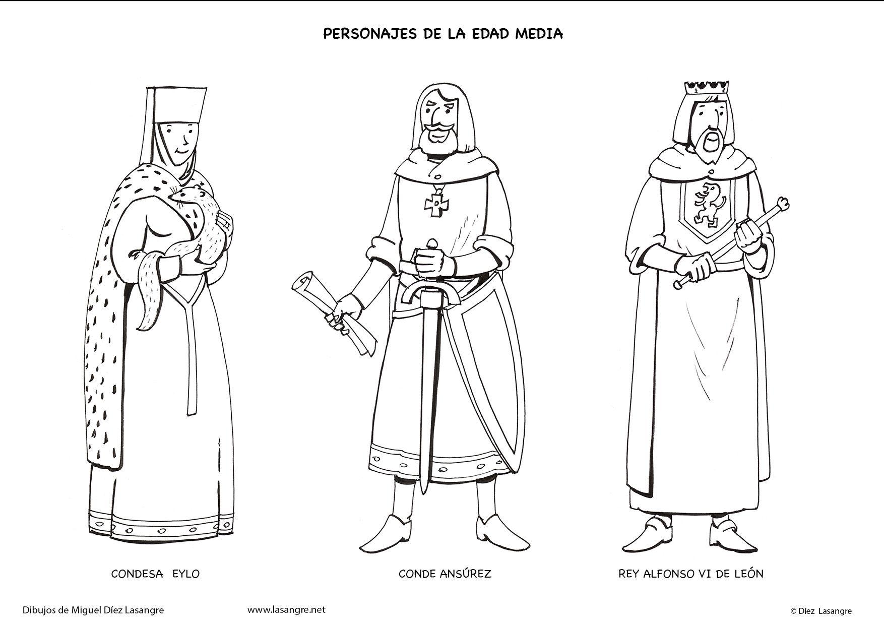 Personajes De La Edad Media Para Colorear Personajes Edad Media Historia De Espana