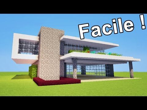 MINECRAFT TUTO MAISON MODERNE !! :) - YouTube | minecraft ...