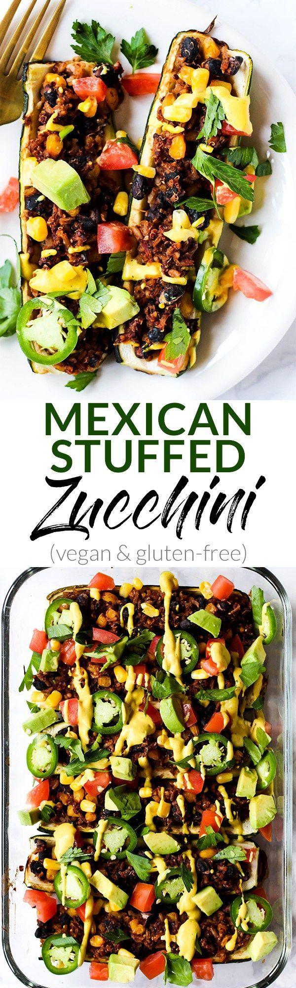 Mexican Stuffed Zucchini Vegan Gluten Free