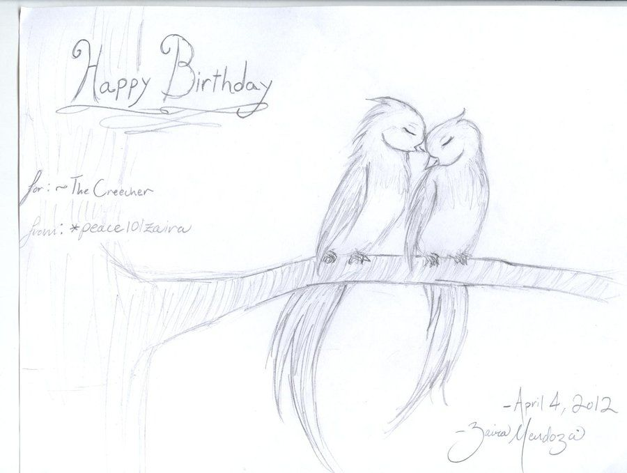 Drawings of love birds love bird pencil drawing love birds by peace101zaira