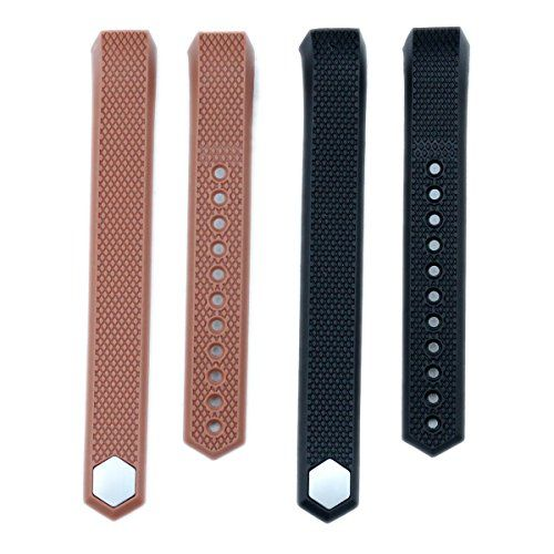 bayite Accessory Silicone Watch Band for Fitbit Alta Pack of 2 Black and Brown Small 55  67 inches -- You can get additional details at the image link.