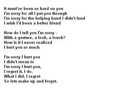 Apology Poems for Her | links poems or apology poems ations
