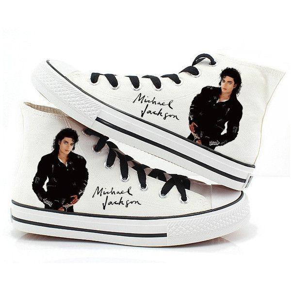 Michael Jackson shoes canvas shoes hand paint shoes people shoes... ($70)
