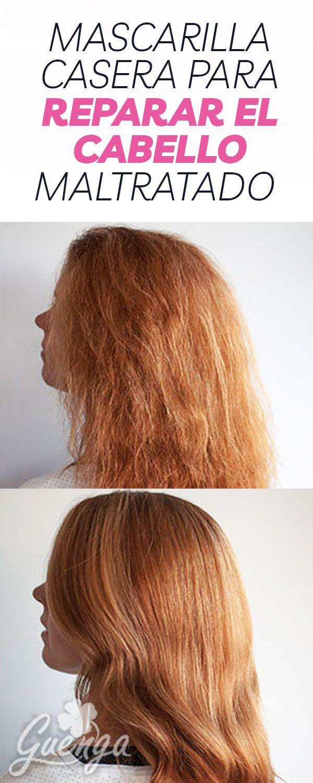Mascarilla casera para reparar el cabello maltratado.