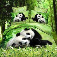Edredon Para Cama De 200x200.Queen Size 3d Bonito Panda Criancas Meninos Adultos Conjunto De Cama