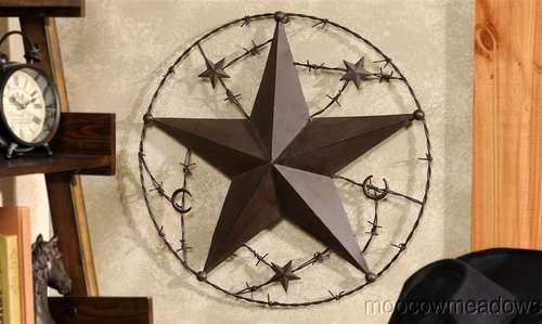 Merveilleux New Rustic Star W Barbed Wire Western Wall Decor Cowboy Plaque Decor Accent  Art | EBay