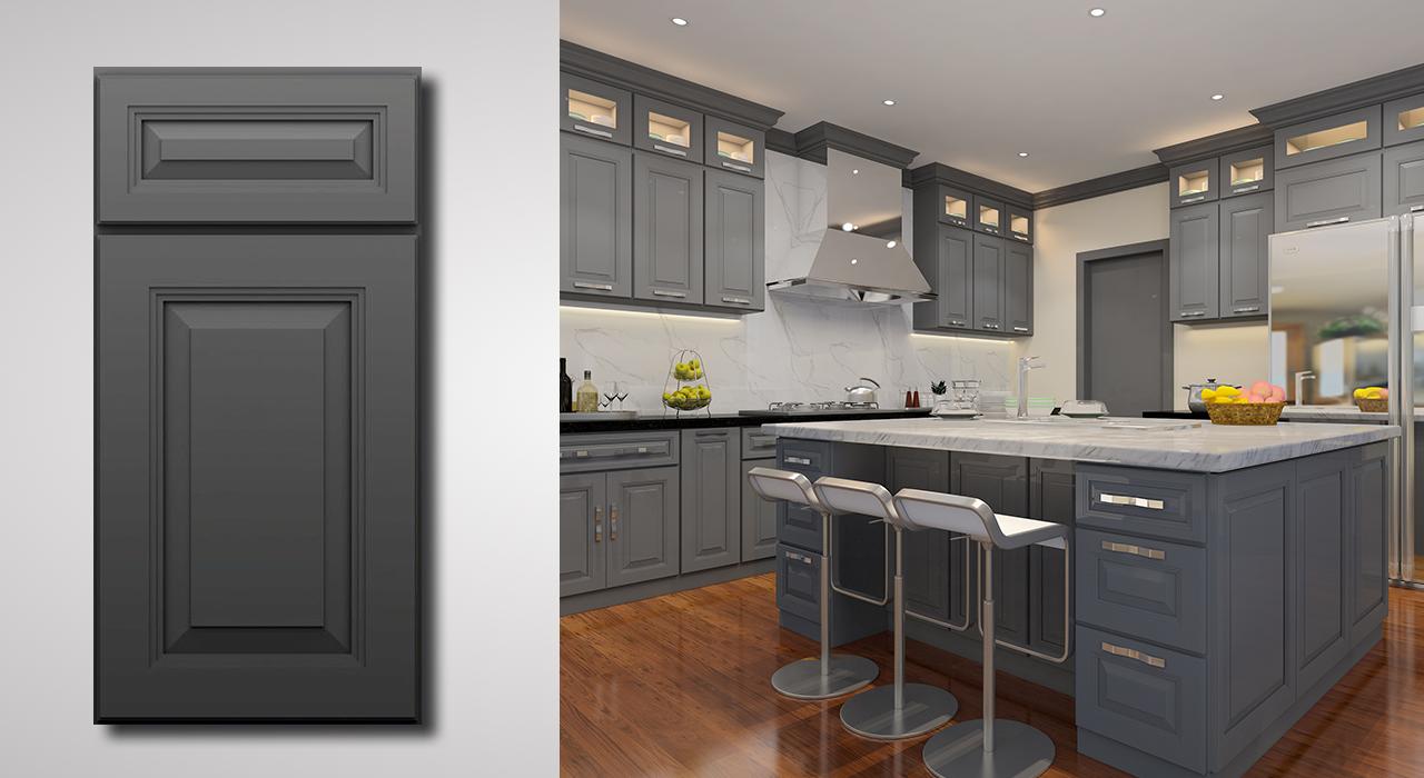 Belmont Gibraltar Gray Cabinets Grey Kitchen Cabinets Kitchen