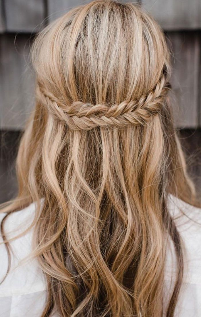 Half Up Half Down Braid Hairstyles Hair Styles Bridesmaid Hair Long Prom Hairstyles For Long Hair