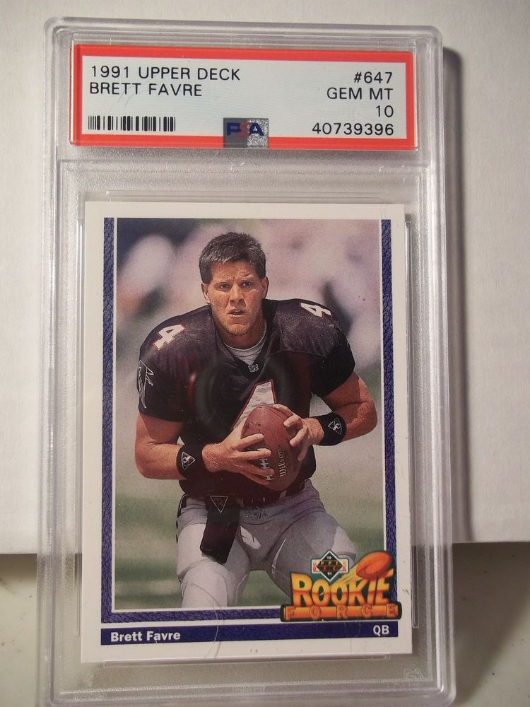 1991 Upper Deck Brett Favre Rookie Psa Gem Mint 10 Football