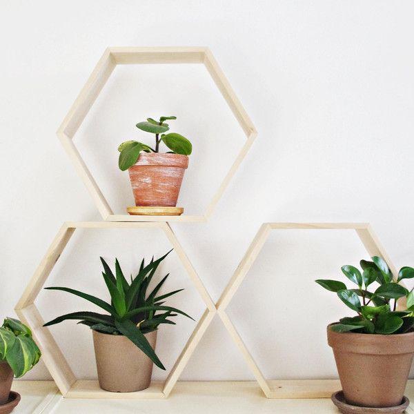 HEX XL - Hexagon Holzregal - ein Designerstück von Any-THING bei DaWanda