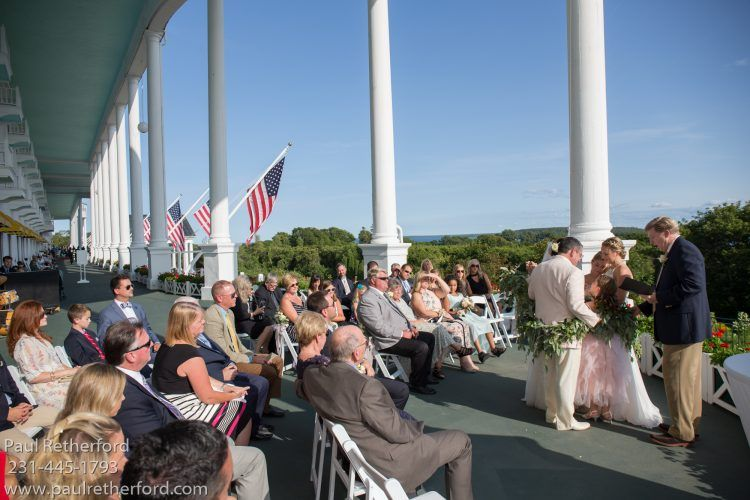 Mackinac Island Wedding Grand Hotel West Porch
