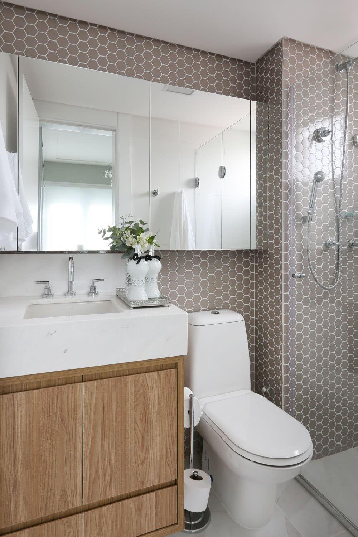 50 Banheiros Decorados Com Pastilhas (melhores Fotos!) #tinybathrooms