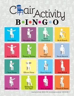 Chair Activity Bingo Nursing Home Activities Occupational Therapy Activities Elderly Activities