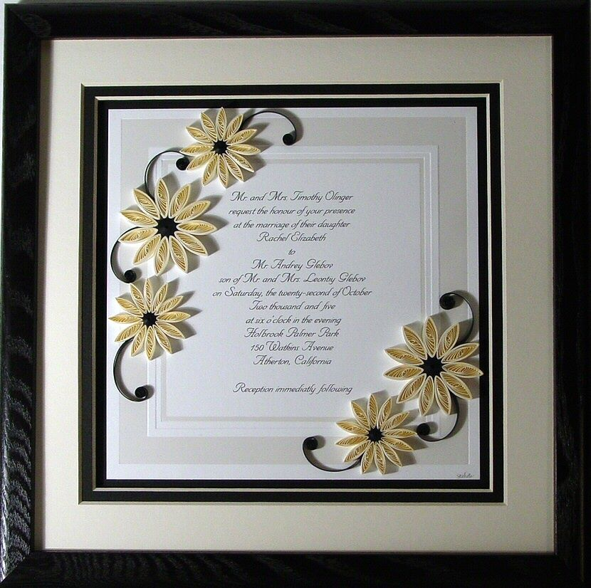 I love the idea of putting your wedding invitation in a frame as a ...