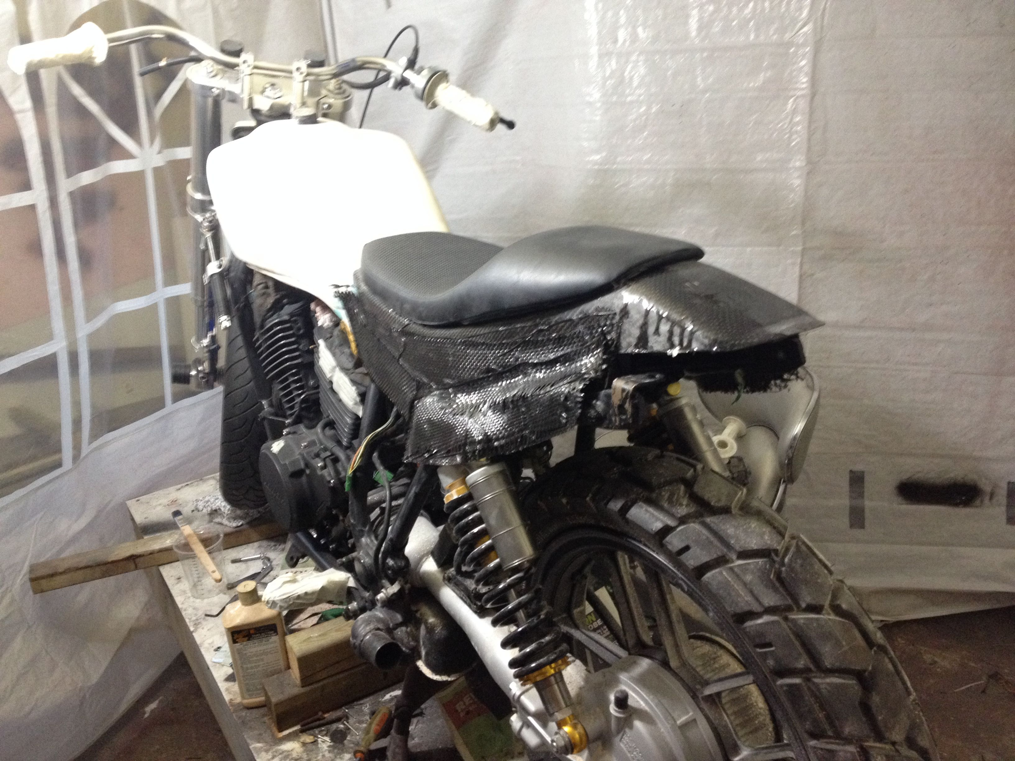 Honda Vt 500 Ft Carbon Boner Dirty Hand Customs The Real One