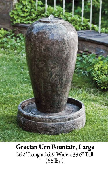Grecian Urn Fountain Large Garden Fountain Store Fountains Outdoor Water Fountains Outdoor Garden Ideas Large