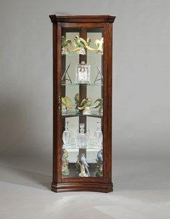 Luxury Pulaski Corner Curio Cabinet