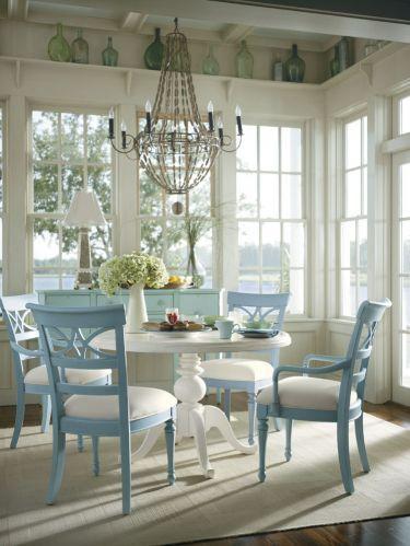 Sea Watch Side Chair Seaside Sea Glass Fabric Stanley Coastal