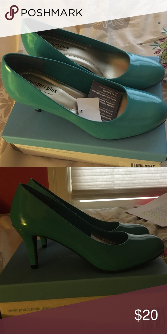 Predictions Comfort plus turquoise heels Never been worn. Still has original tags and box Shoes Heels