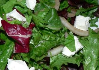 How To Cook Salad With Goat Cheese and Marinated Onions