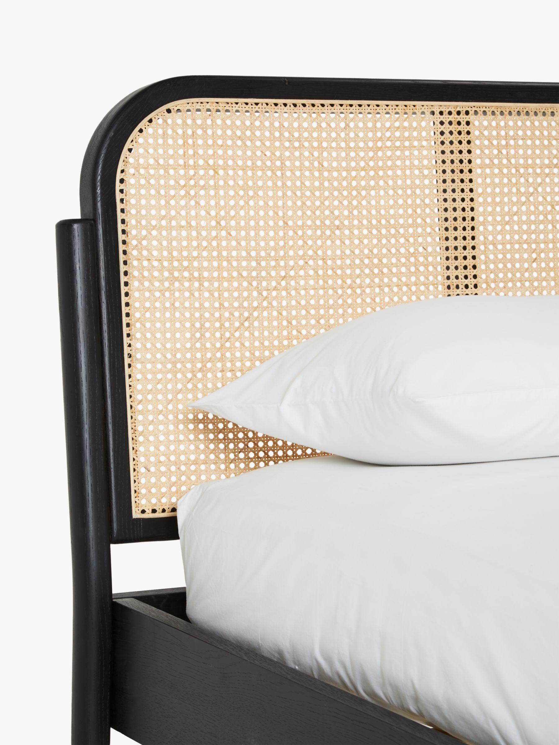 black headboard and frame on john lewis partners rattan bed frame king size black rattan bed rattan bed frame rattan headboard john lewis partners rattan bed frame