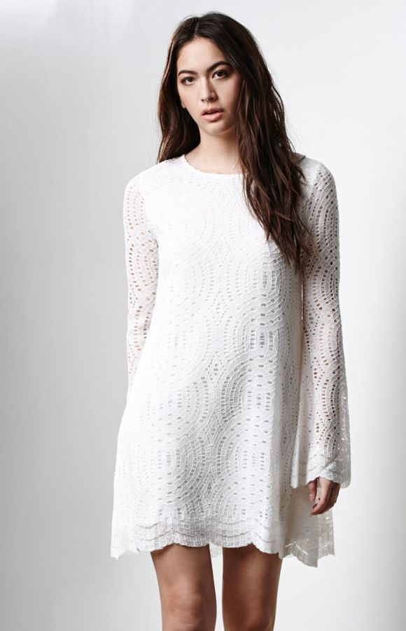 Motel Rocks Danny Scalloped Lace Shift Dress