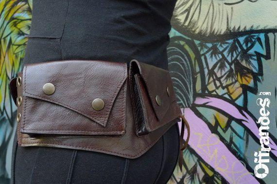 Leather Utility Belt | Fanny Pack | Handmade Designer Pocket Belt | Hip Belt | Travel | Biker | Urban Gypsy | Burning Man | Festival Fashion