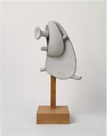 Thenoguchimuseum Isamu Noguchi Ghost Dancing White Seto Ceramic On Wooden Base Photo By Kevin Noble The Museum