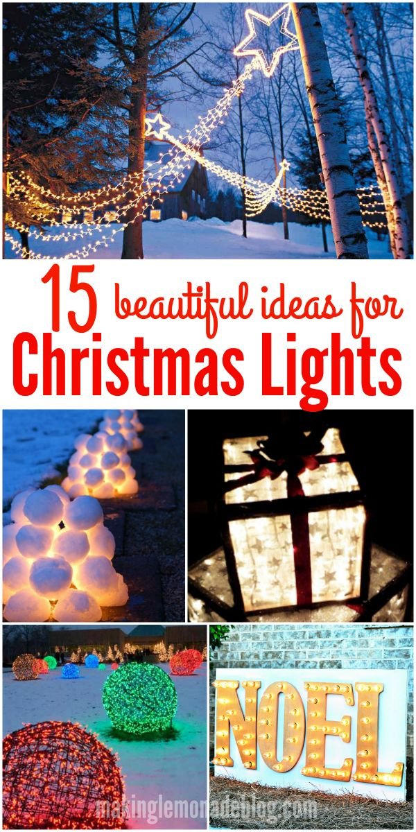 15 Beautiful Christmas Outdoor Lighting DIY Ideas Diy