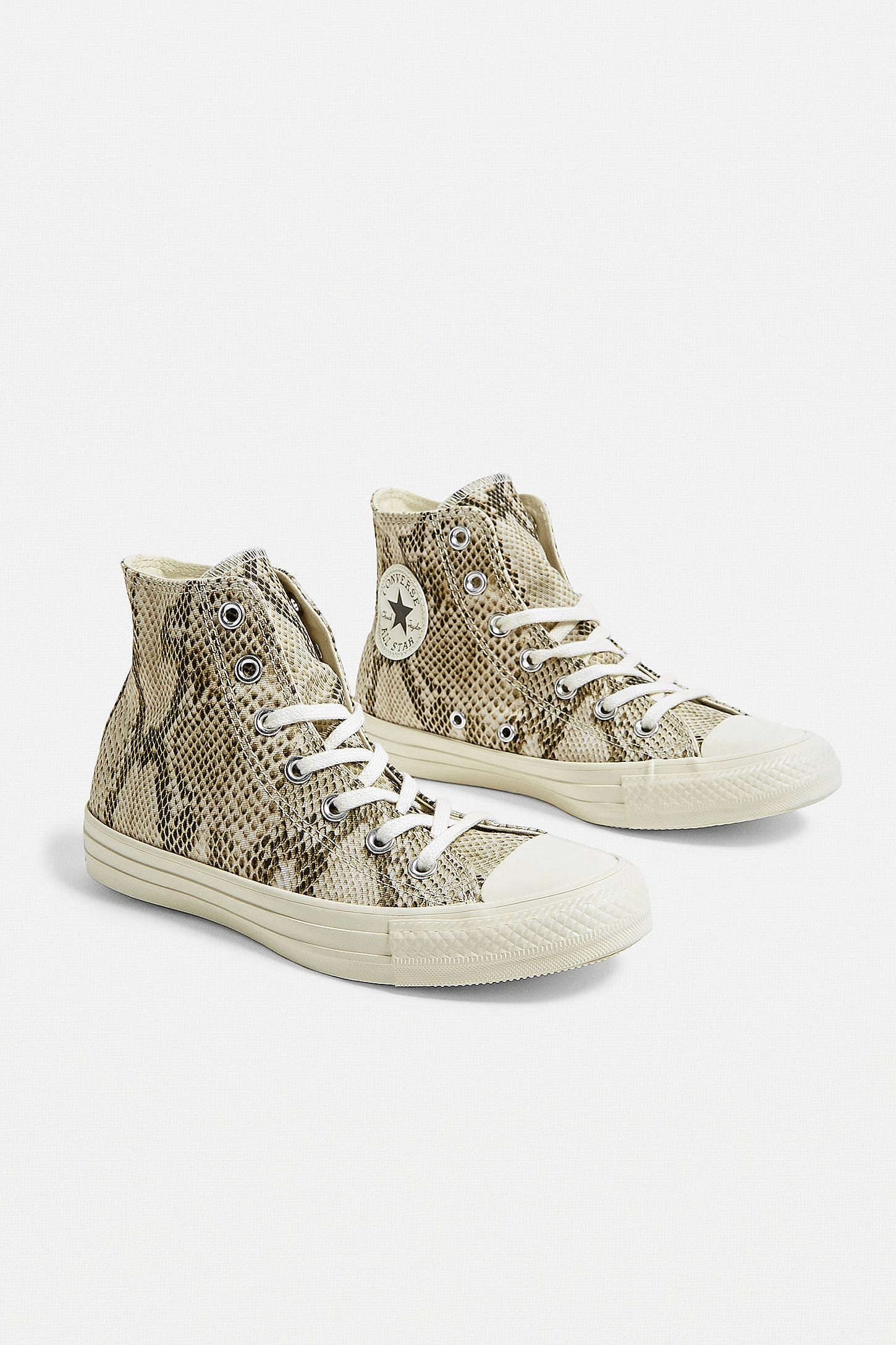 Converse Khaki Chuck Taylor All Star Fashion Snake Leather