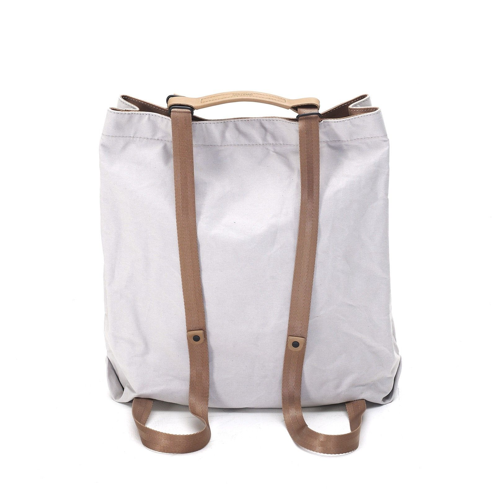 Qwstion - Shopper - Oyster Grey - Backpack Straps - Bicycle Ready