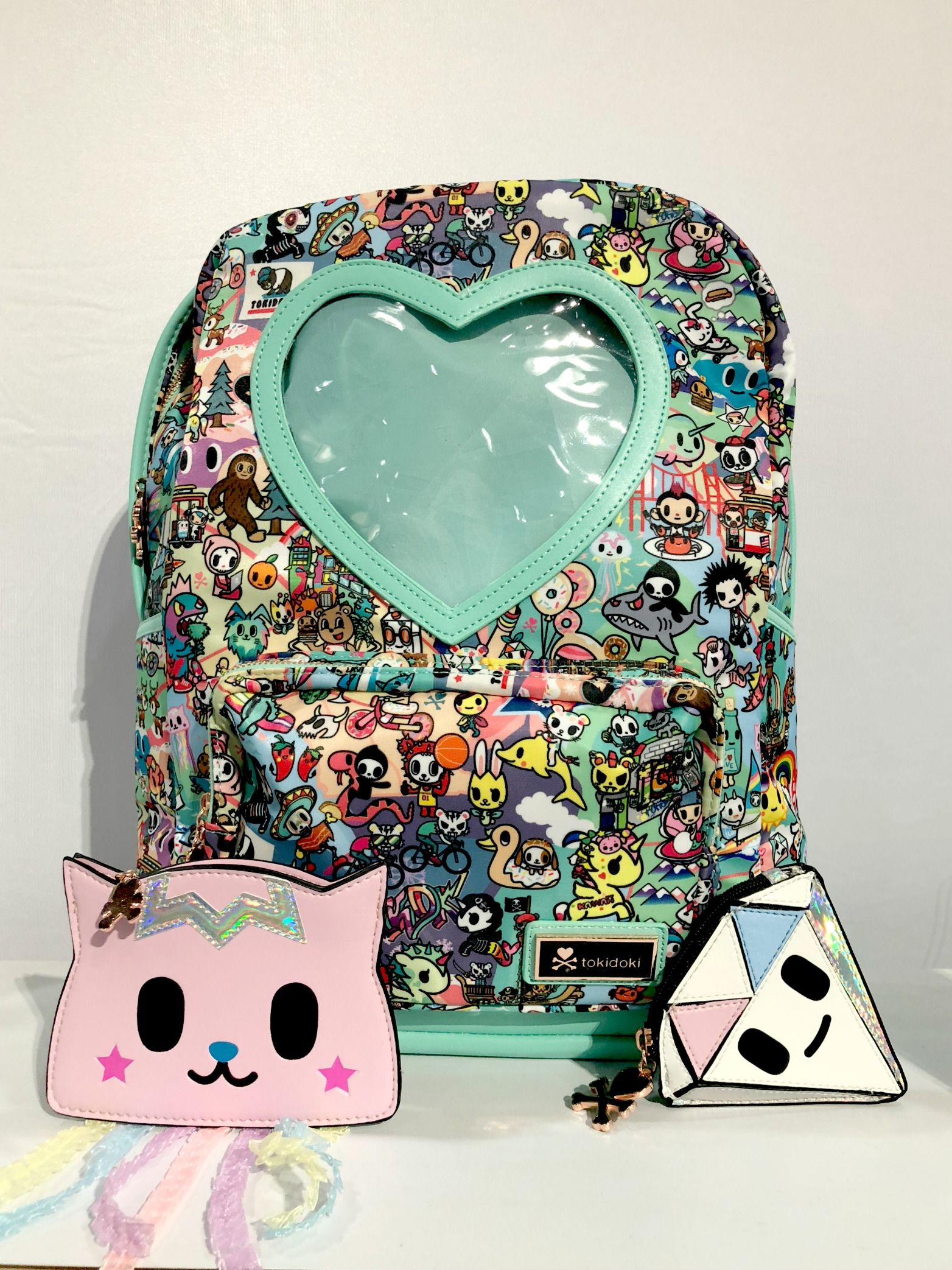 c60379325e22 ... explosion of pop culture awesomeness. New Tokidoki Heart Window Backpack  seen at Toy Fair 2018