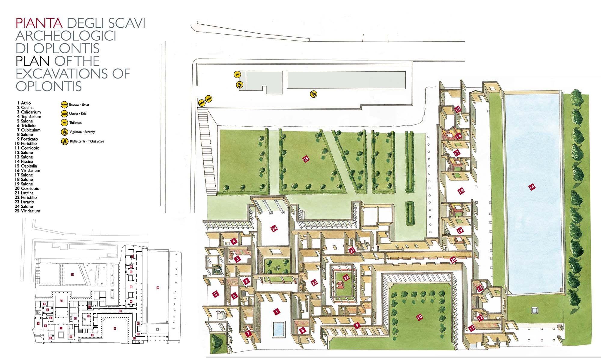 Cast Arredo Torre Annunziata plan of the villa di poppea in oplontis (the modern torre
