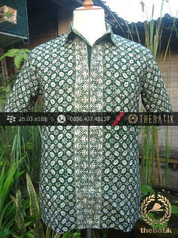 Kemeja Batik Jogja Motif Kawung Hijau  Indonesian Mens Batik