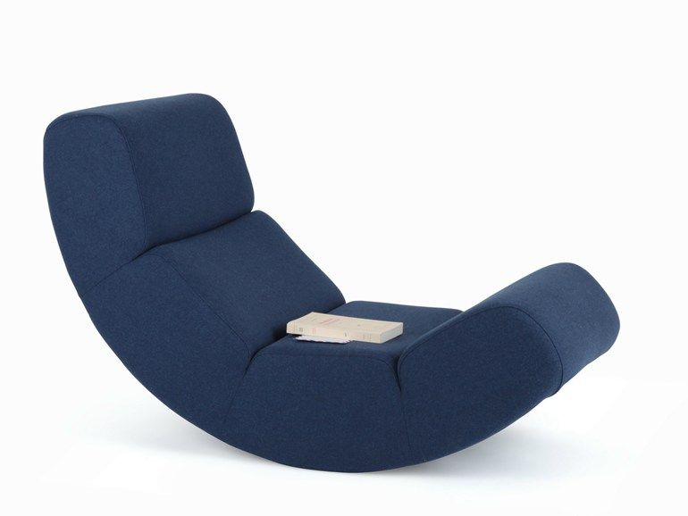 fauteuil bas a bascule ernest by harto