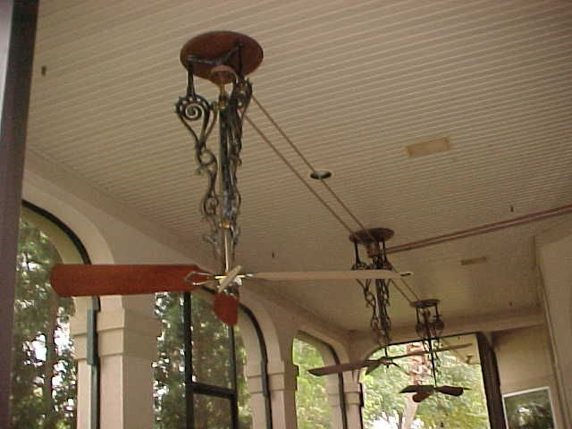 Fans With Belts So Nice Out On The Porch Backus Belt Fans On