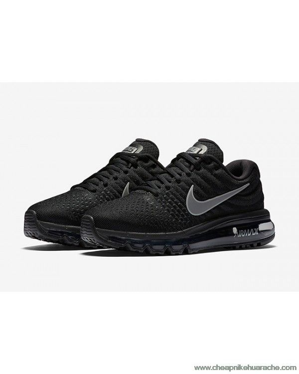 Best Nike Air Max 2017 Mens Running Shoes Black Hot Sale £51.00
