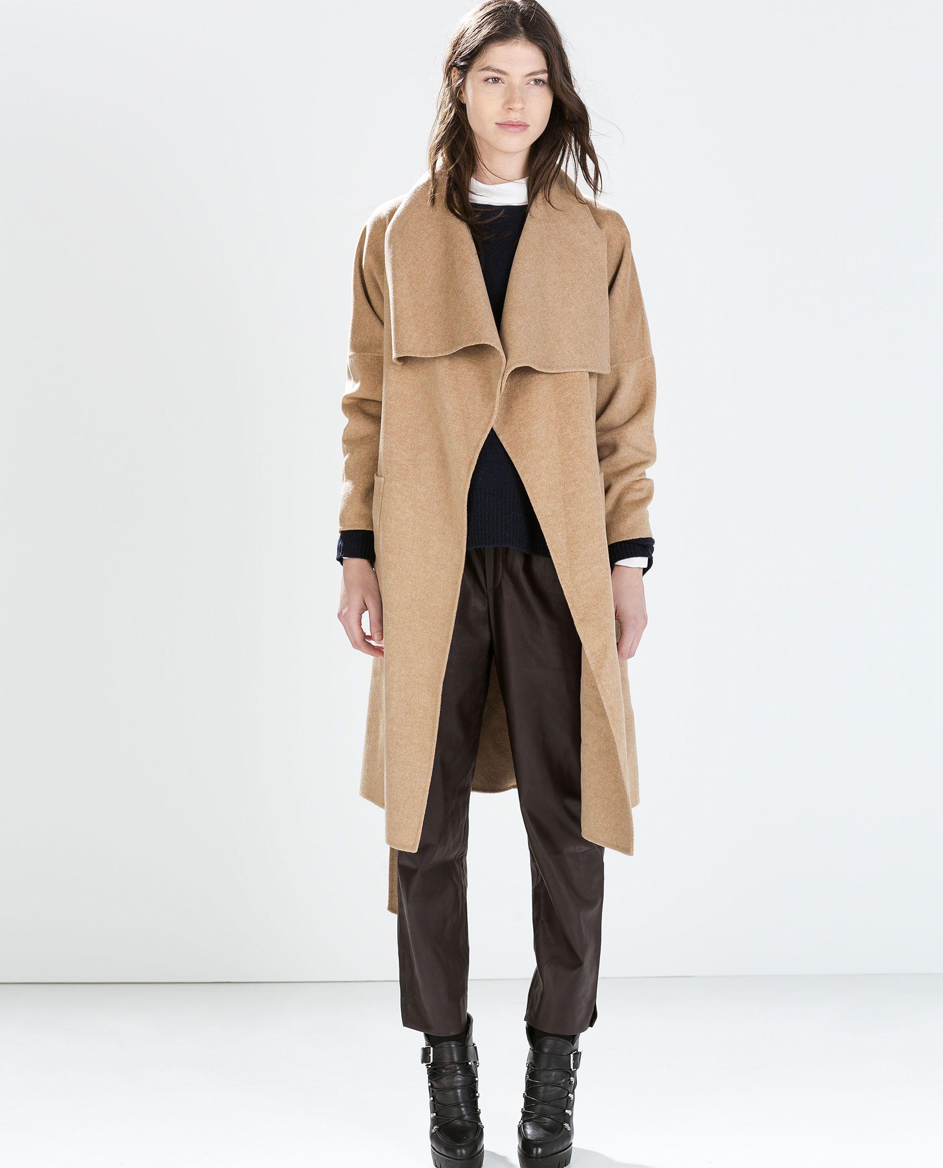 camel coat // LONG COAT from Zara | My Dream Closet | Pinterest ...