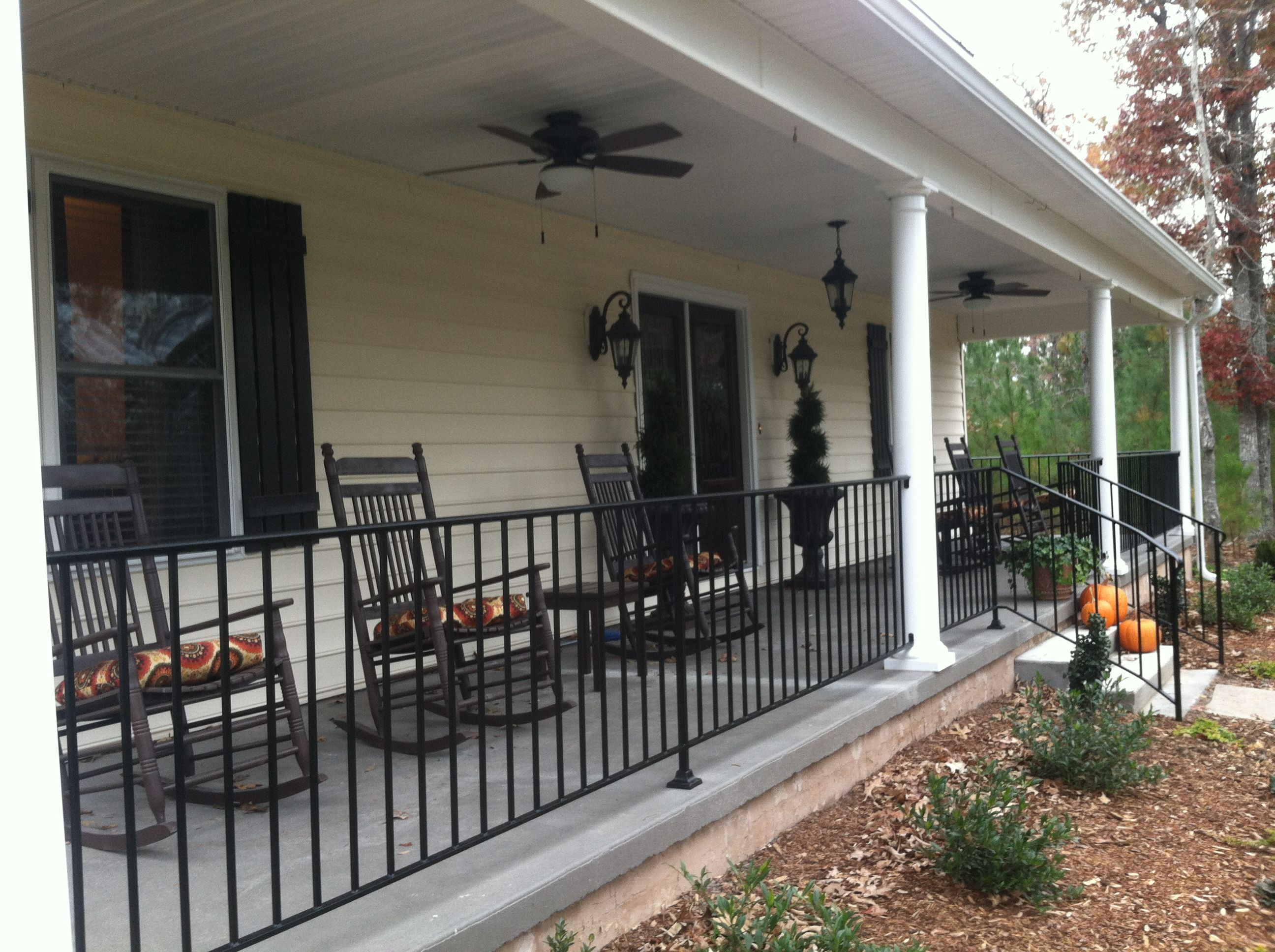 A Makeover… | Wrought iron railings, Iron railings and Front porches