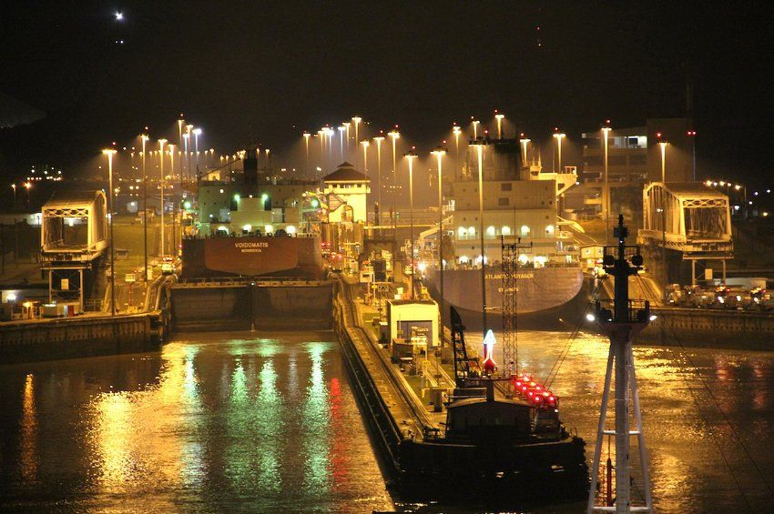 Wow - entry to the Panama Channel