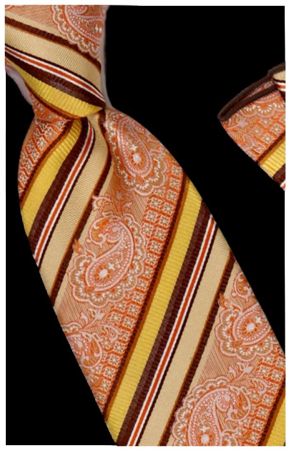 Tie and Hanky Set | 100% silk | Big-Knot | BWR742