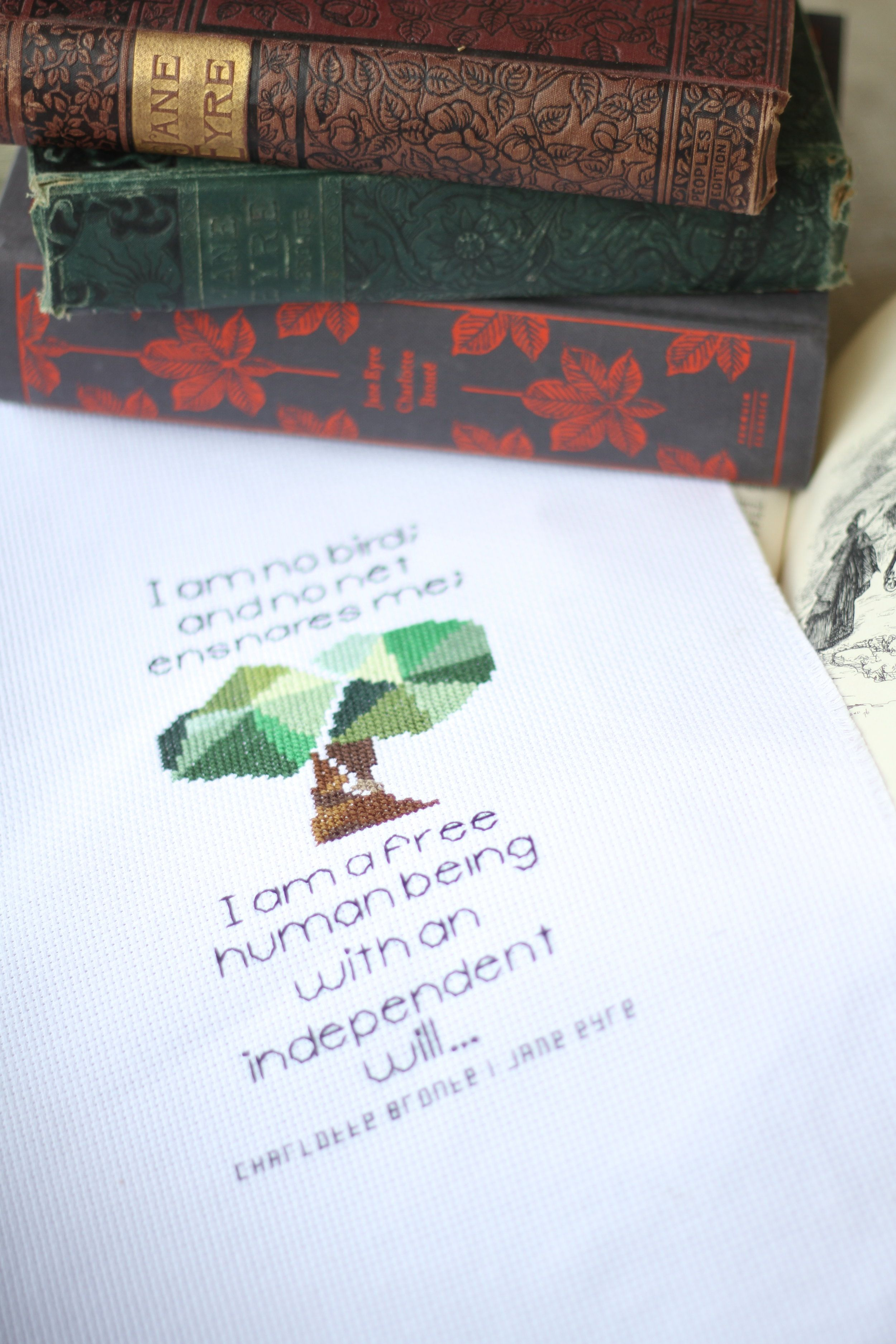 Oct freebie alert jane eyre quote pattern cross stitch