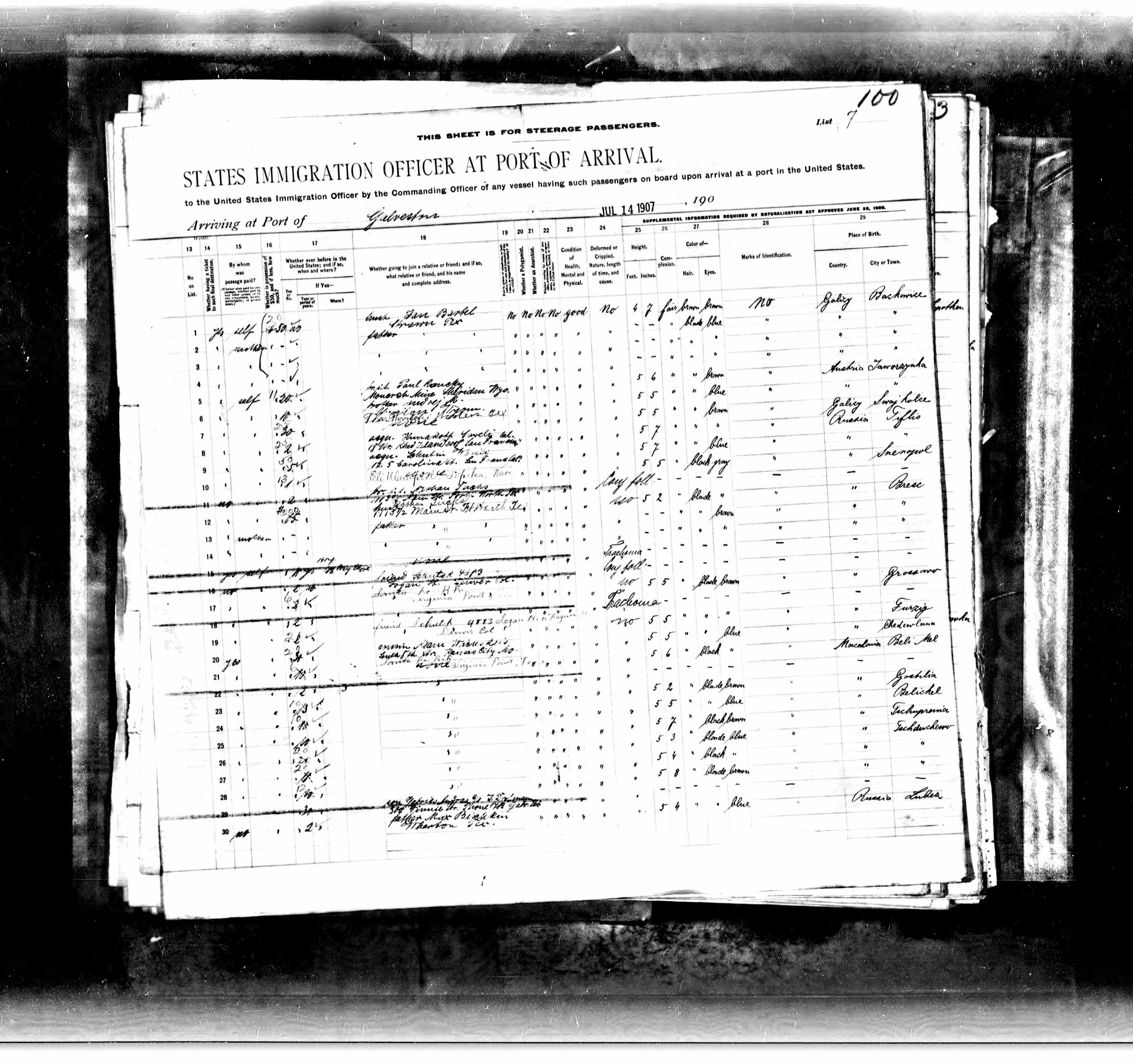 Description arrival month 07 source information ancestry galveston texas description arrival month 07 source information ancestry texas passenger lists aiddatafo Image collections