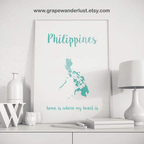 Philippines Map Art By Grapewander