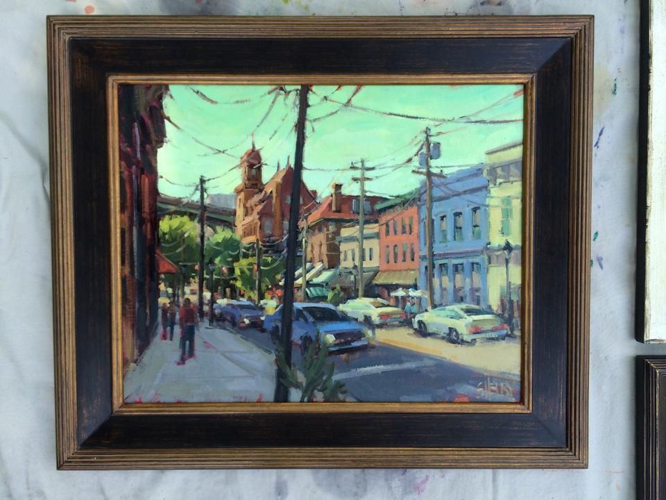 3rd place winner of the 2014 Richmond Plein Air contest: Shelby Keefe for her painting of Main Street Station and surrounding area  https://www.facebook.com/shelbykeefefineart