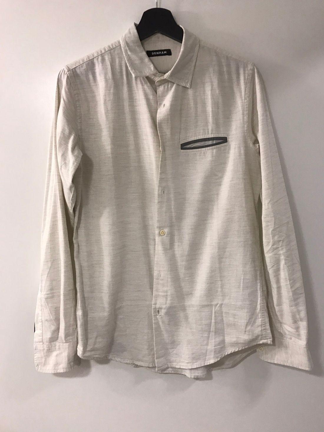 Denham Off White Button Up Shirt Size S $60 - Grailed | tops ...