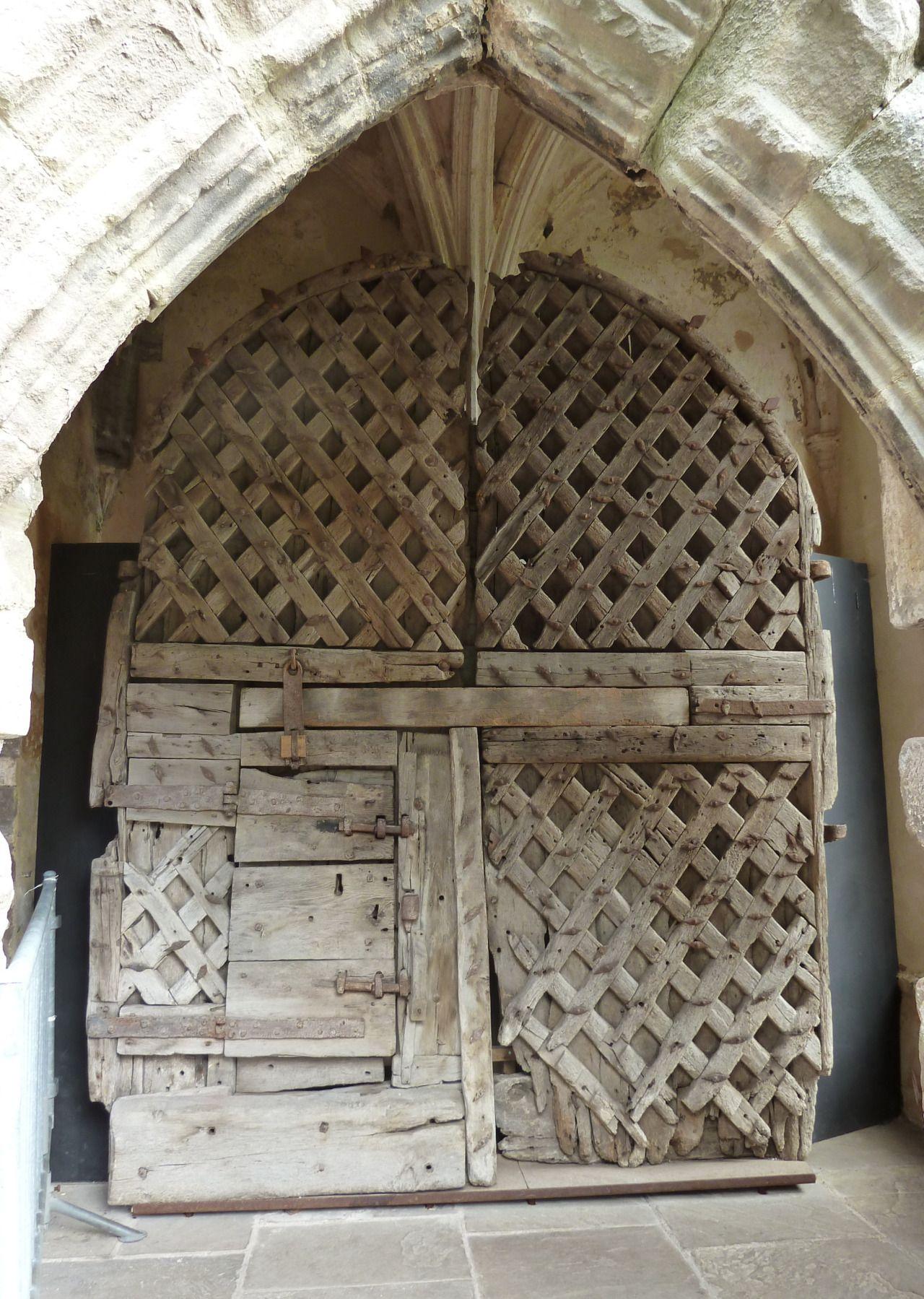 Latticework-reinforced door Chepstow Castle These... - Museum of artifacts & Latticework-reinforced door Chepstow Castle These... - Museum of ...