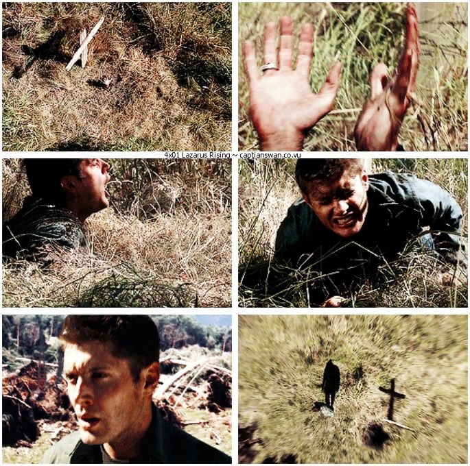 4x01 Lazarus Rising [gifset] - Dean escaping from his grave - Dean  Winchester is saved, Supernatural | Dean winchester, Supernatural,  Winchester