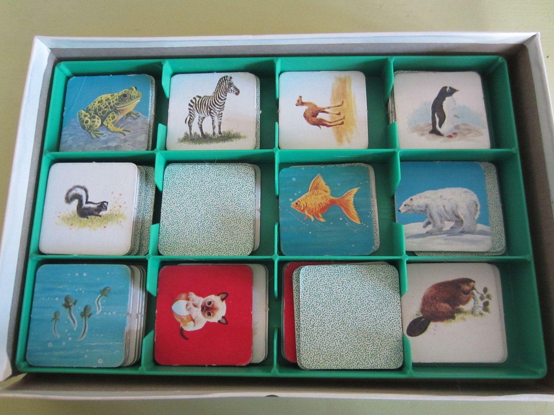 Vintage Baby Animal Memory Game